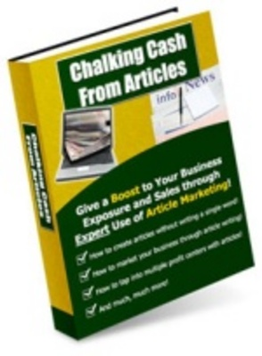 Product picture Chalking Cash from Articles - Article Marketing